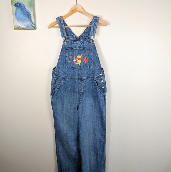 7776907382c Disney Pants - Vintage Disney Winnie the Pooh Overalls